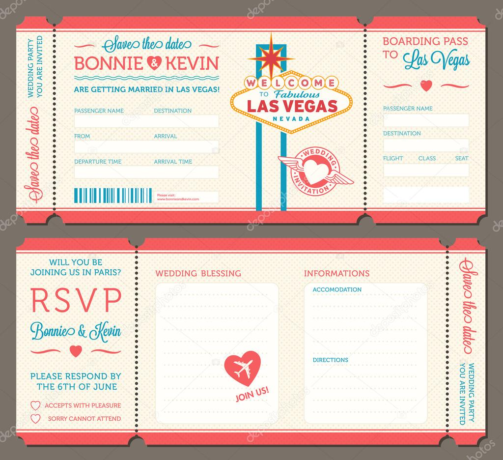 Las vegas Wedding Invitation — Stock Vector © pingebat #86532288
