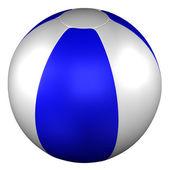 Beach Ball. 3D rendering.