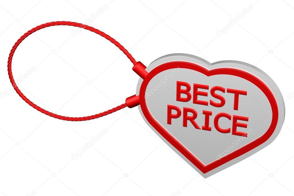 Mejor precio de etiqueta de corazón — Foto de stock © ARudolf #96932276