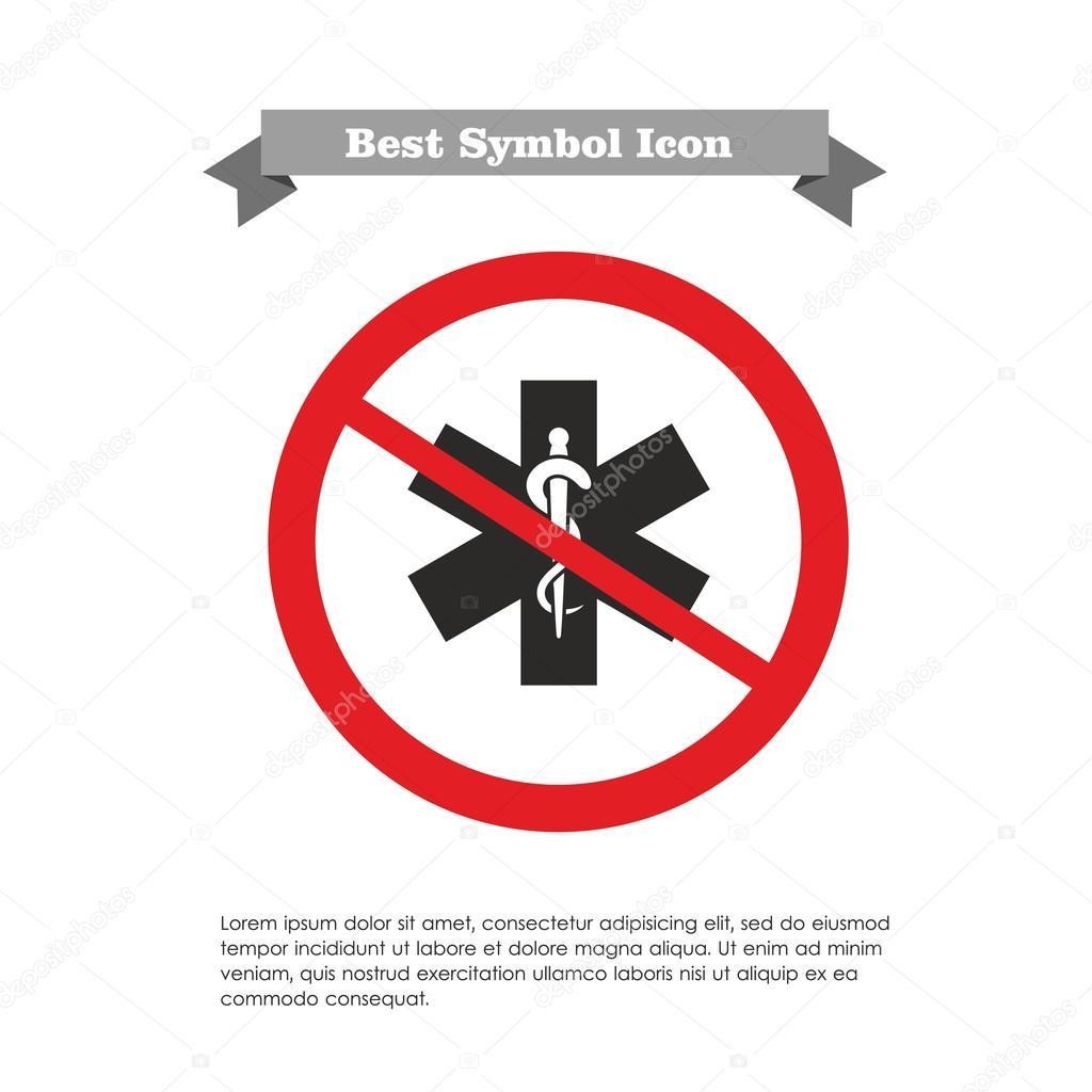No Medical Emergency Symbol Icon Stock Vector Redinevector 74165537