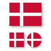 Fotografia Bandiera della Danimarca