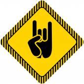 Rock and roll kéz jel