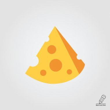 Icon of cut cheese piece stock vector