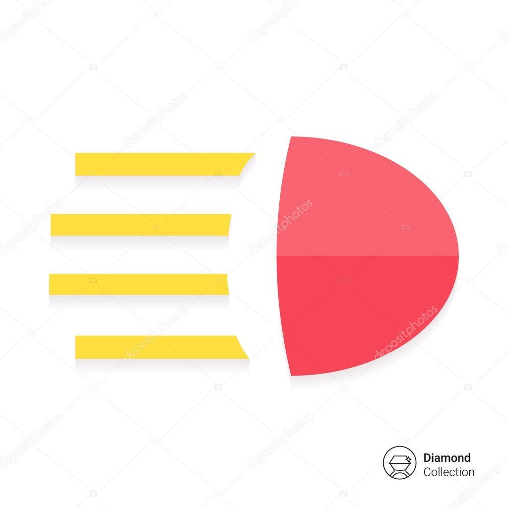 High Beam Sign Stock Vector Redinevector 80791584