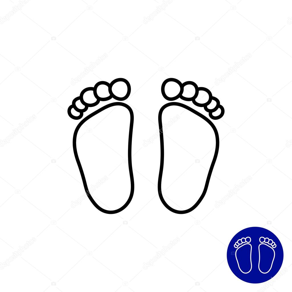Baby Footprints Stock Vector Redinevector 81475998