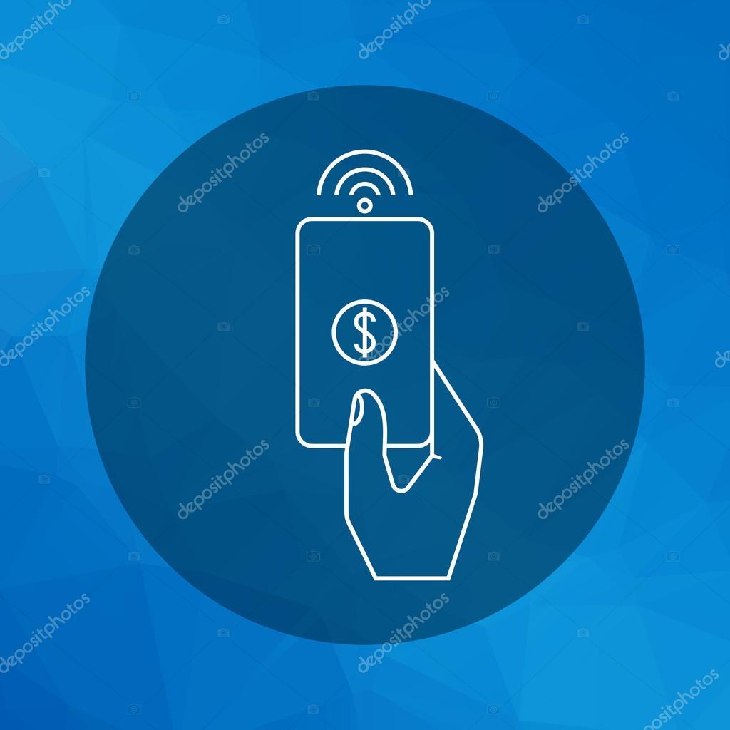 Using proximity card — Stock Vector © RedineVector #81515308