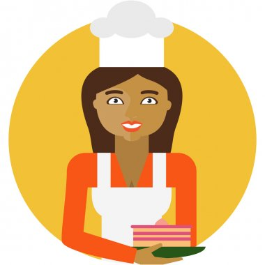 Smiling female confectioner