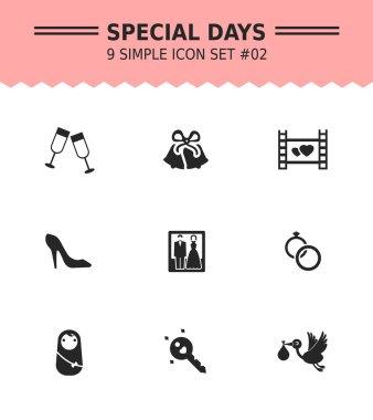 Special days icon set 2