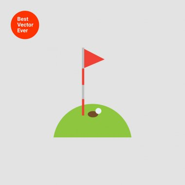 Golf course with ball and hole