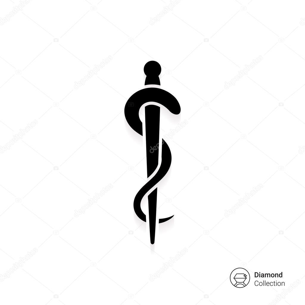 Rod Of Asclepius Stock Vector Redinevector 84967998
