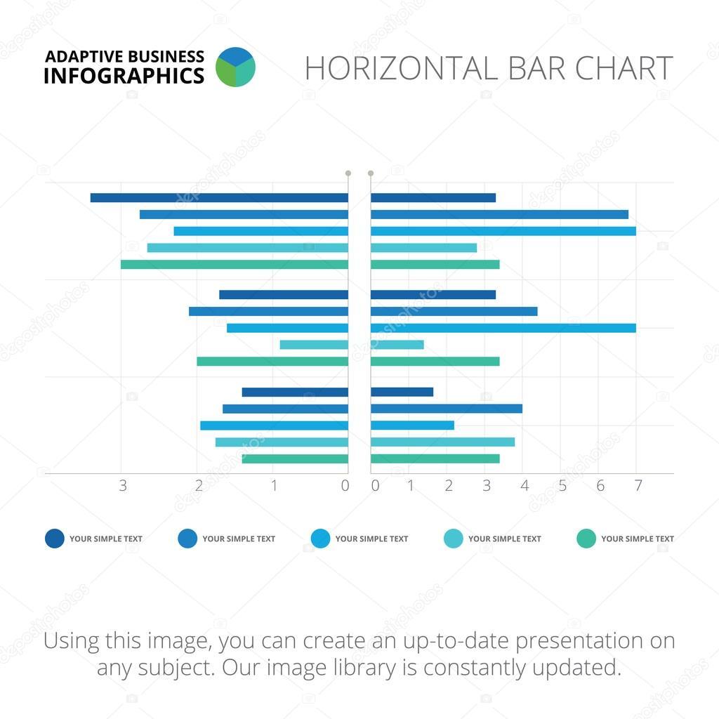 horizontal bar chart template stock vector redinevector 85662832