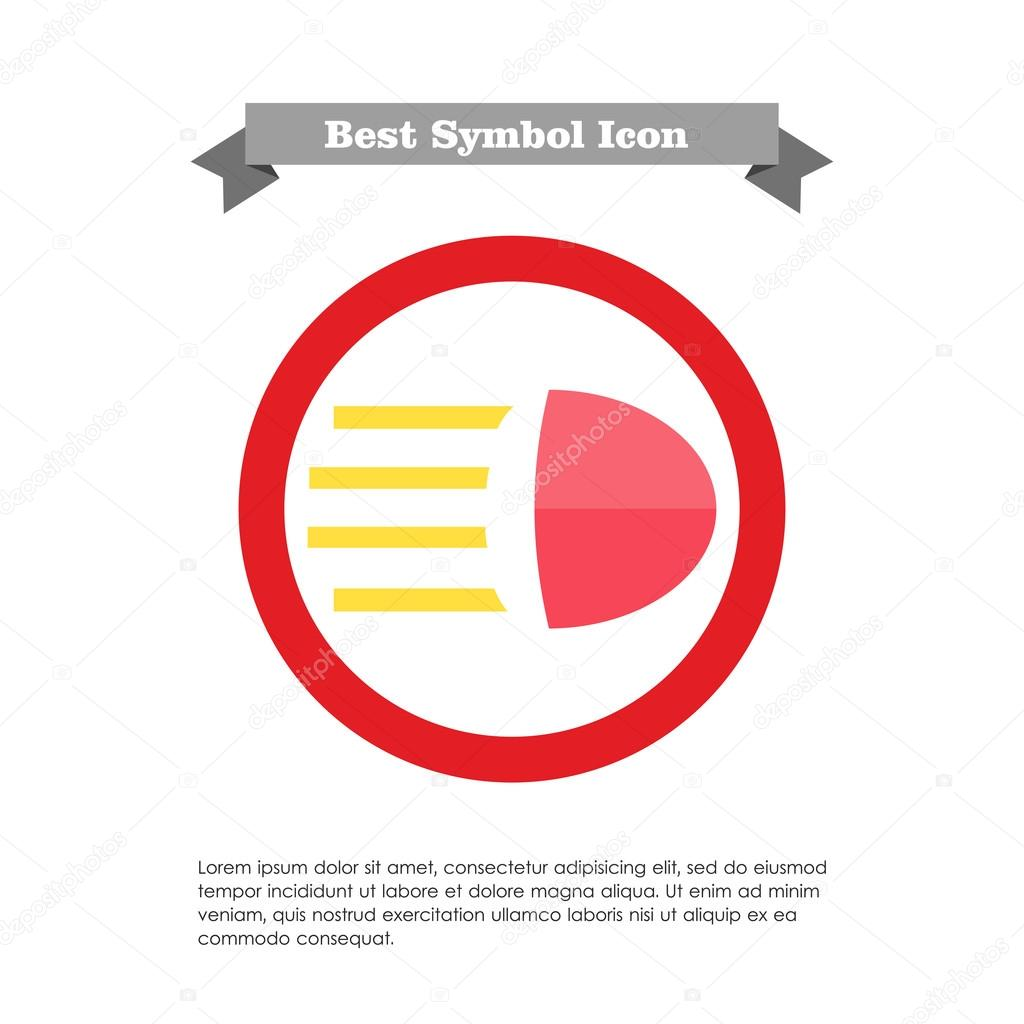 High Beam Sign Stock Vector Redinevector 86223688
