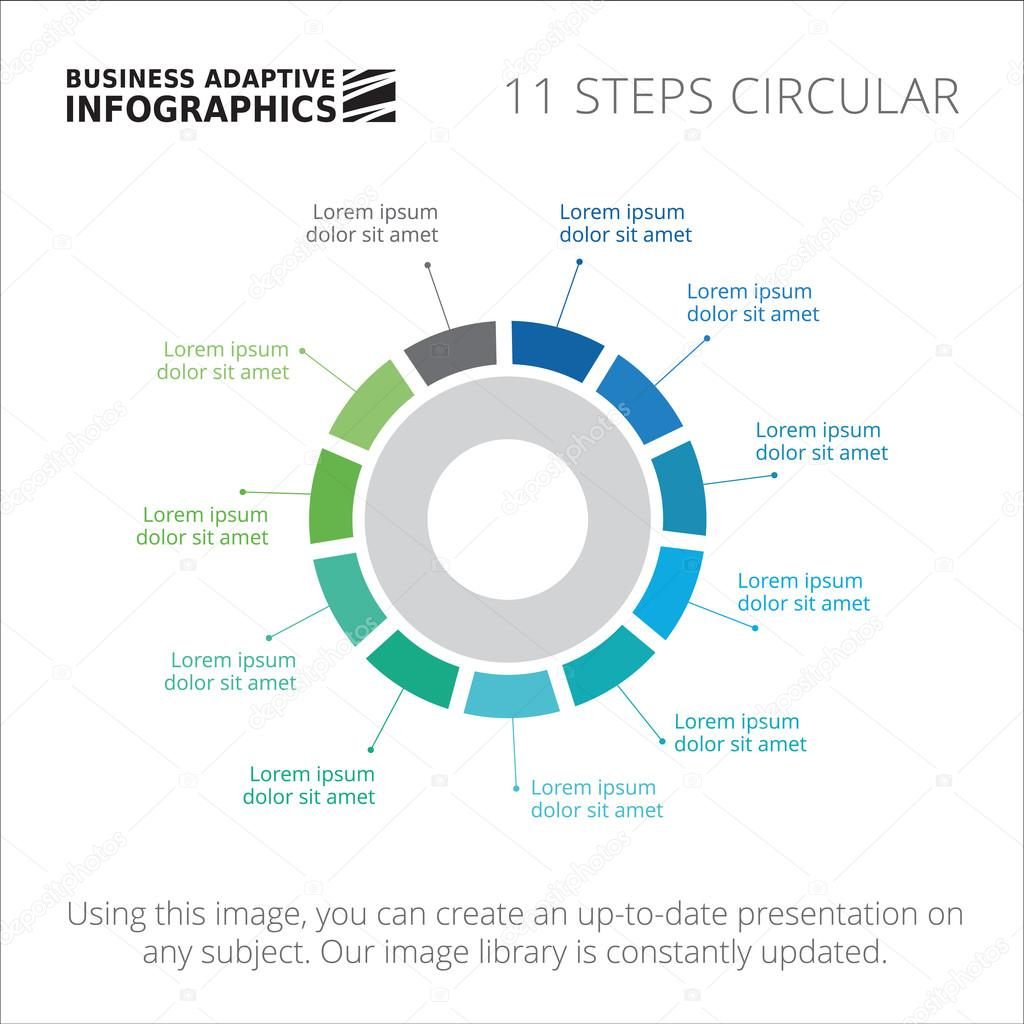 Ejemplo de diagrama circular de pasos — Vector de stock ...