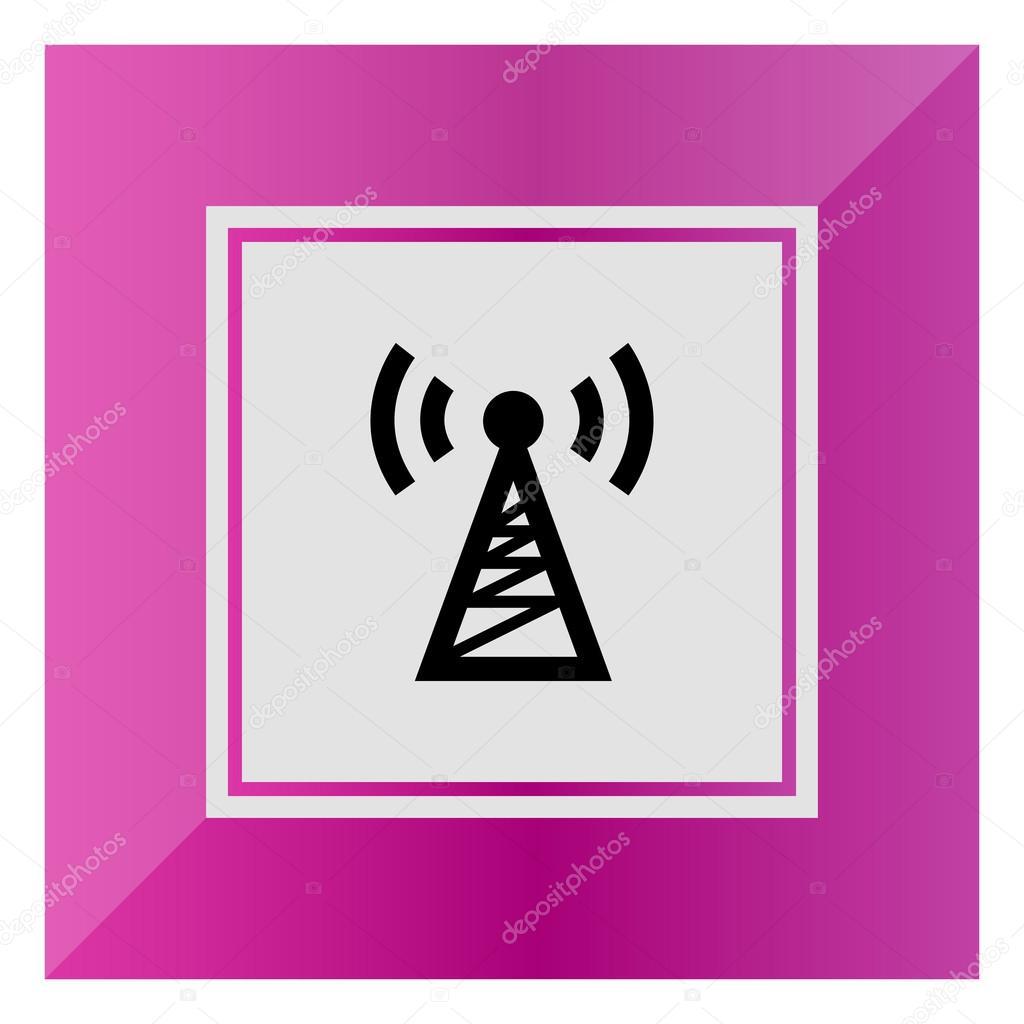 Radio Turm Symbol — Stockvektor © RedineVector #87710420