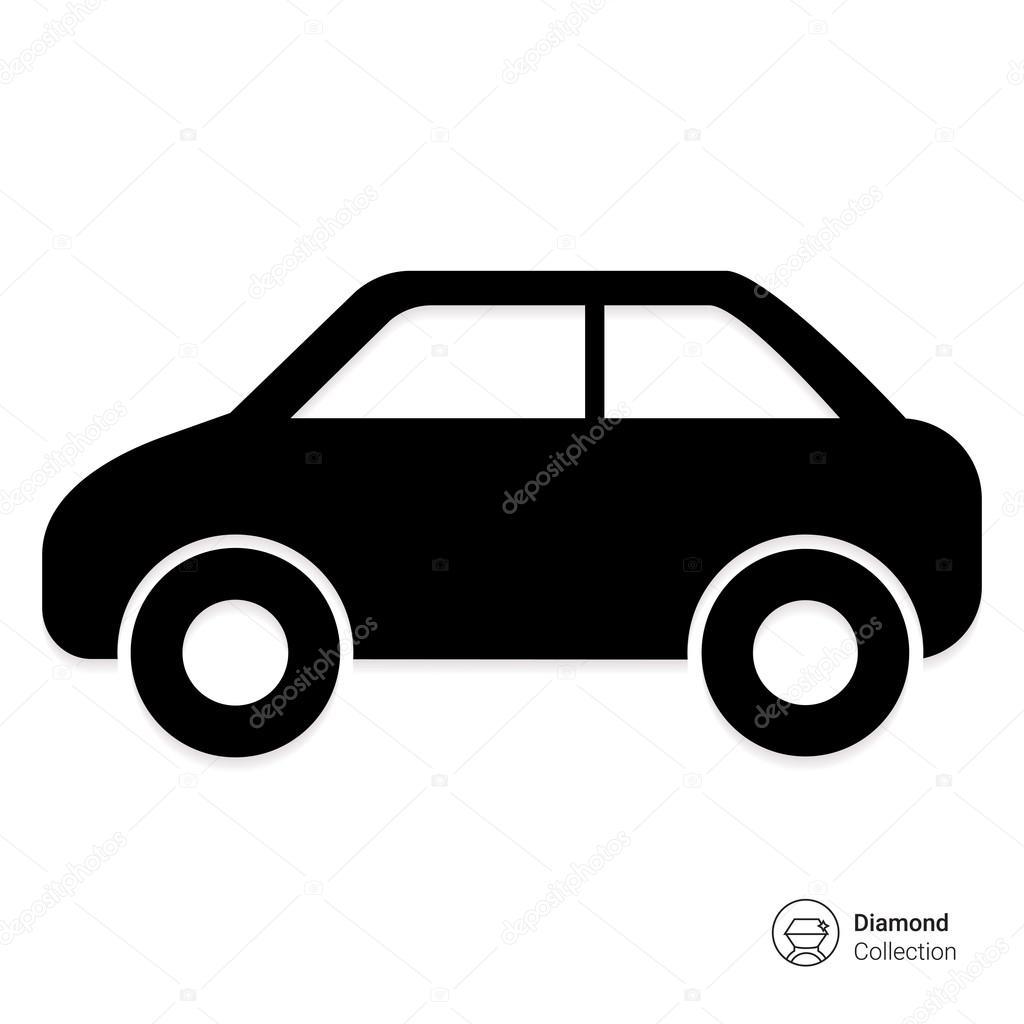 Passenger Car Icon Stock Vector C Redinevector 87728300