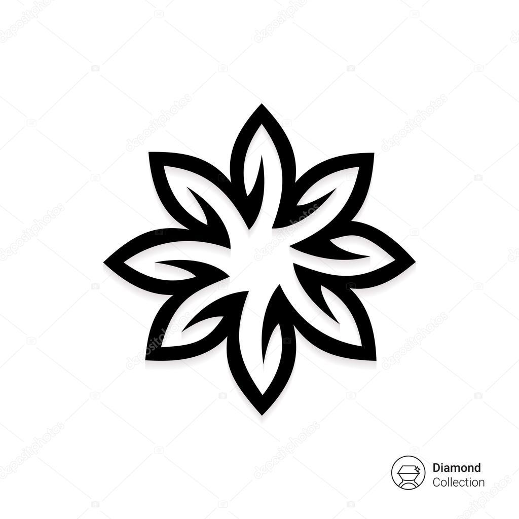 Weihnachtsstern-blühen-Symbol — Stockvektor © RedineVector #87728310
