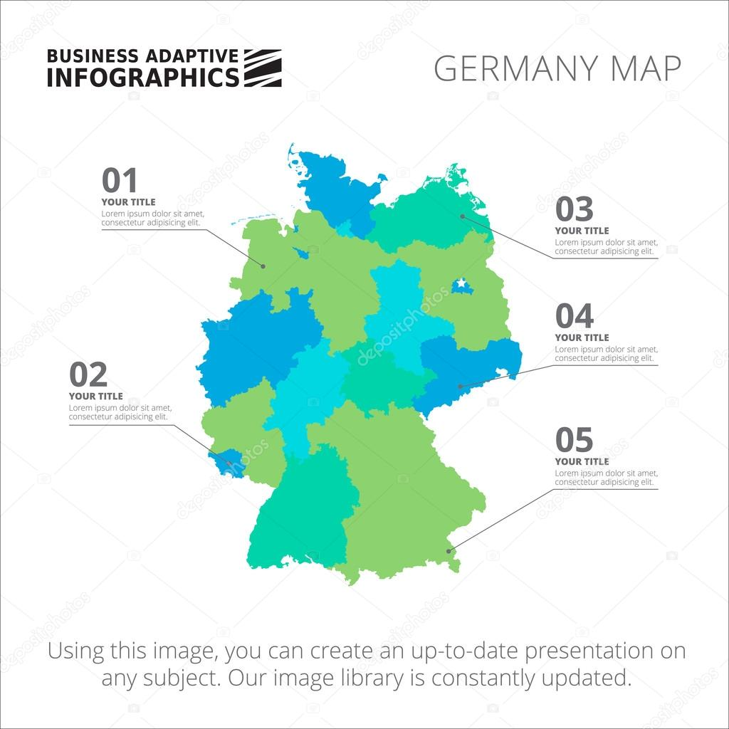 Germany Map Template Stock Vector RedineVector - Germany map template