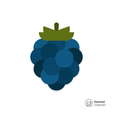 Ripe blackberry icon