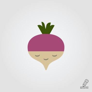 Fresh radish icon