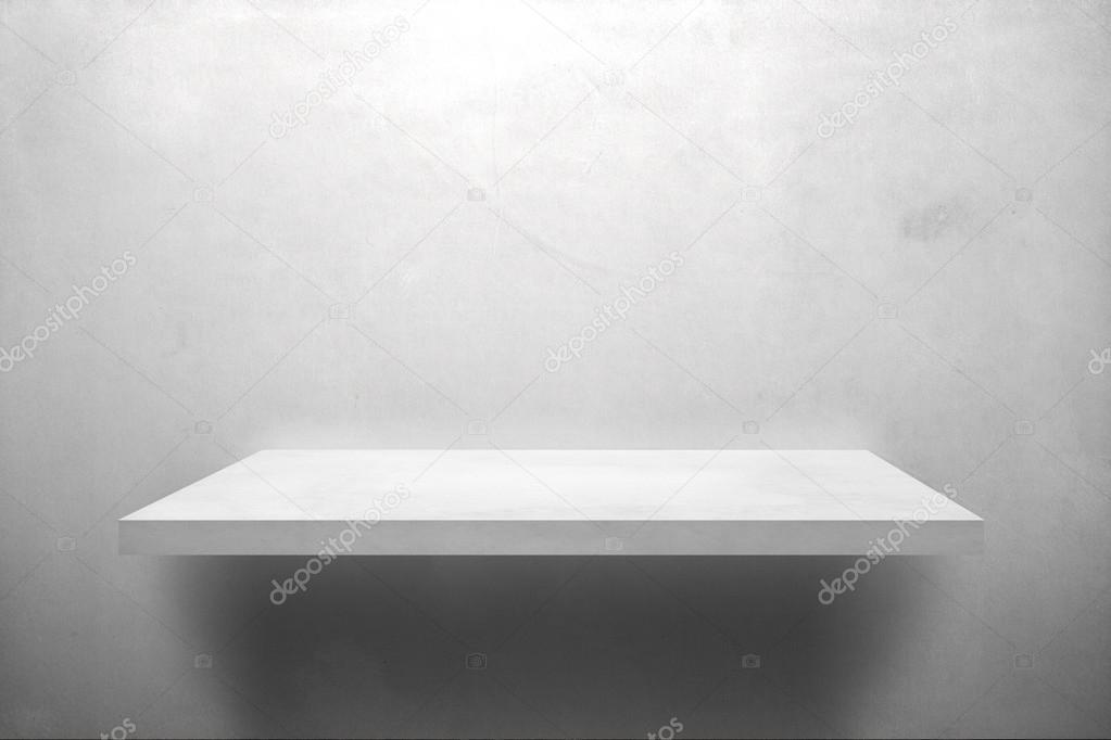Białe Półki Na ścianie Szary Zdjęcie Stockowe Findeep