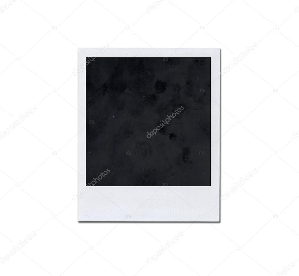 Old instant photo frame isolated on white background — Stock Photo ...
