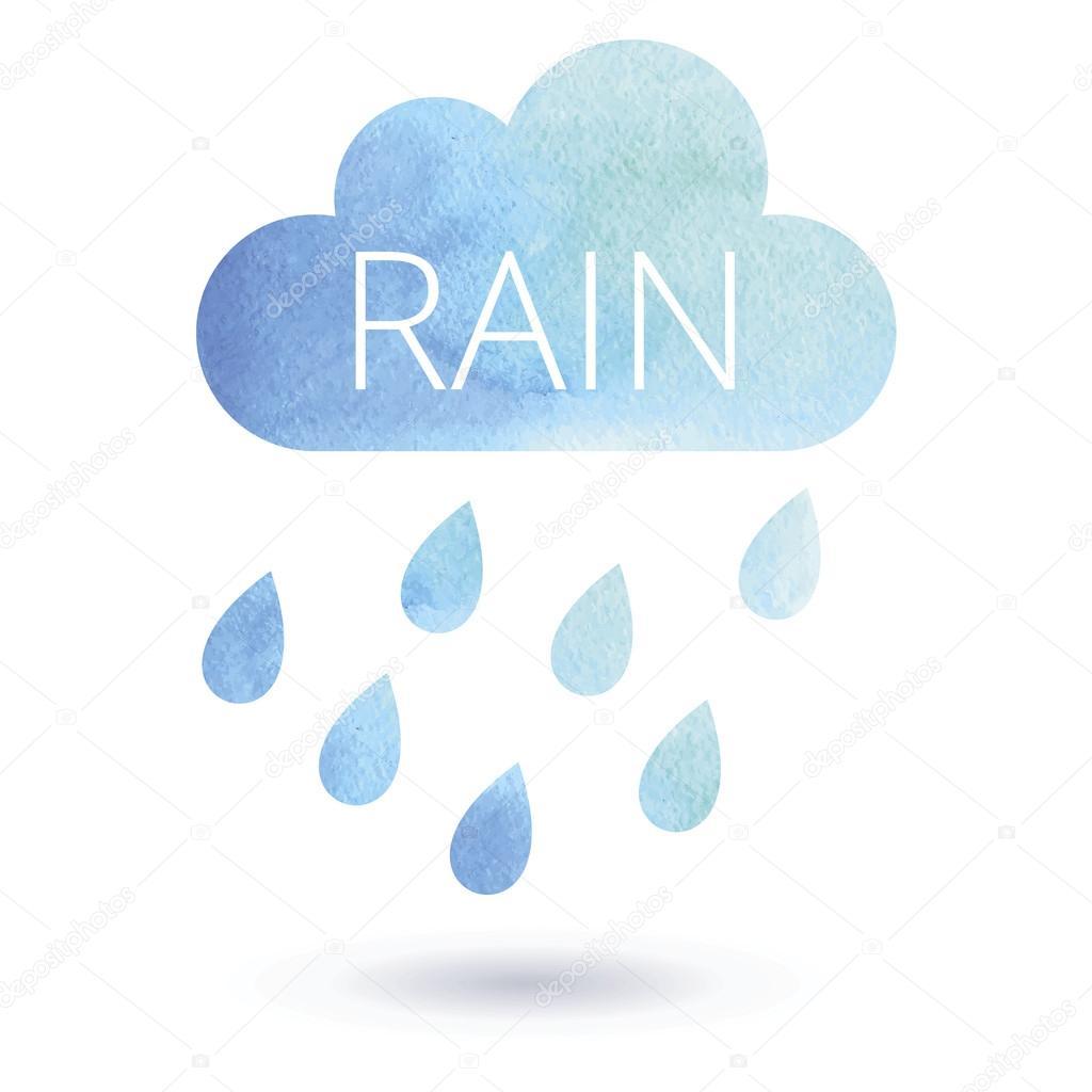 Suluboya Yağmur Bulutu Stok Vektör Ekziekzi 113782790