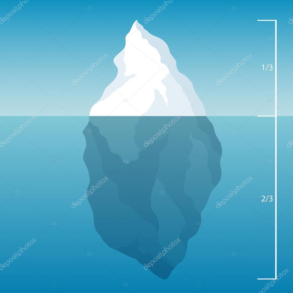 iceberg in the North Sea. illustration background