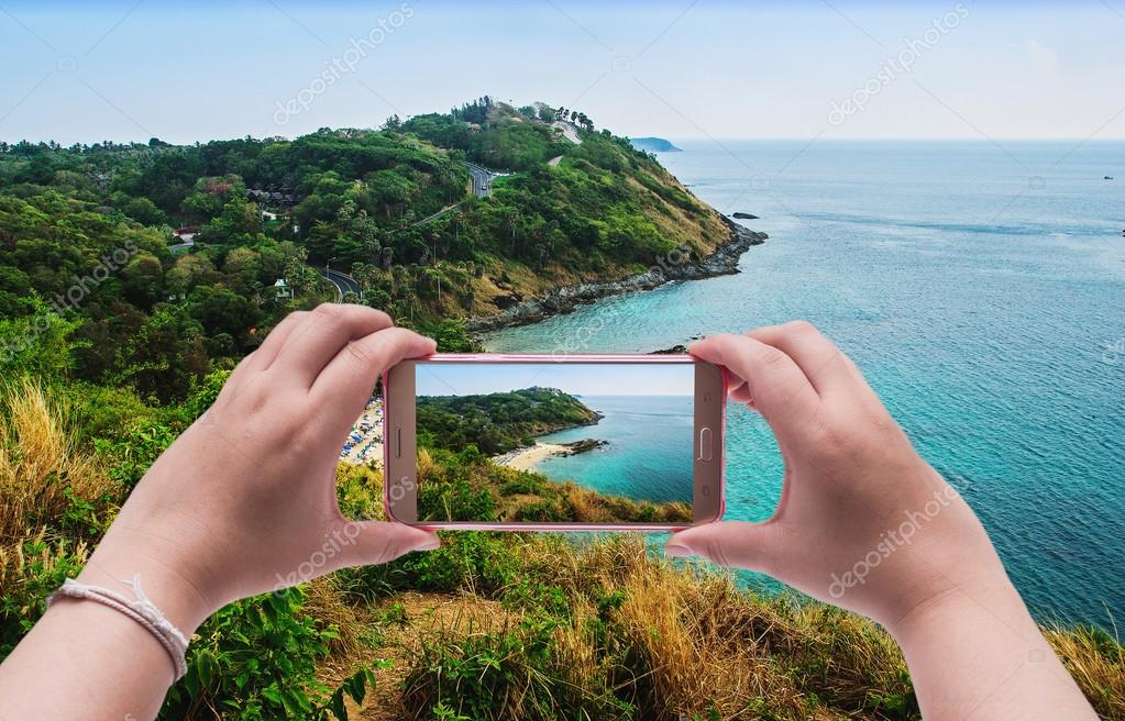 Image of shooting photographs with smartphone