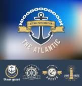 Fotografie Sada námořních Logo šablony
