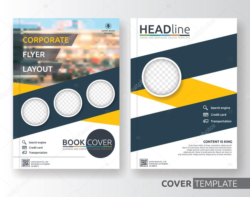 Business Deposit Book Cover ~ Multipurpose business and corporate flyer cover layout