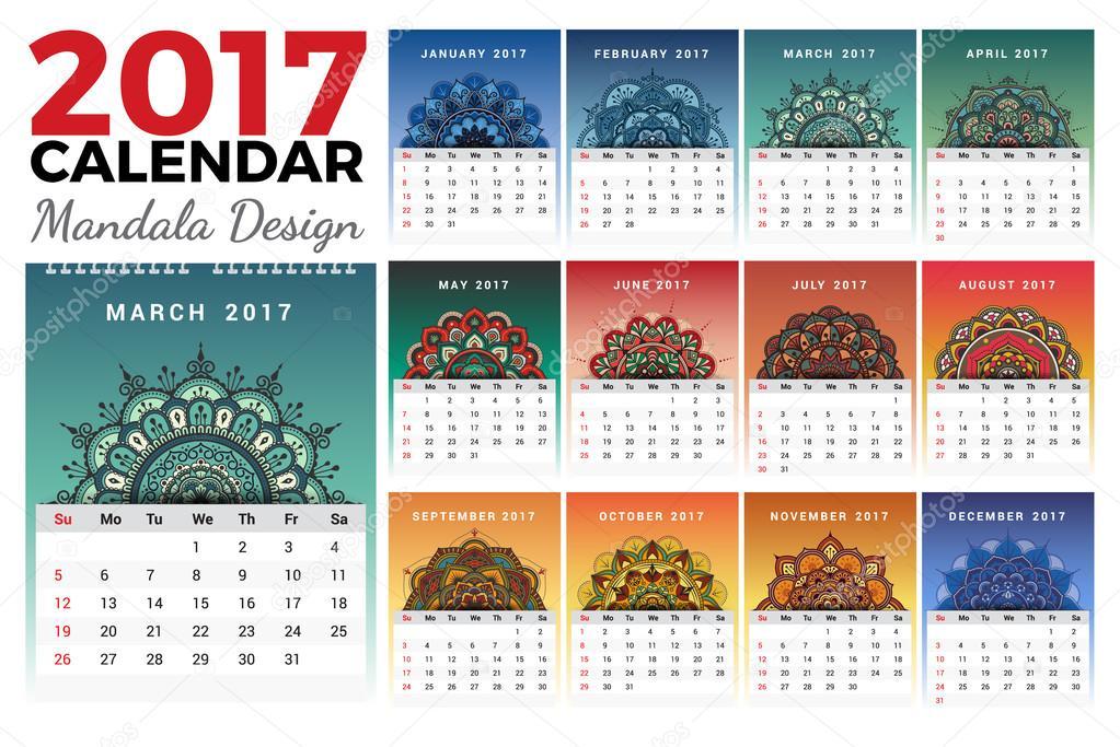 Dise o de calendario 2017 mensual para imprimir archivo - Disenos de calendarios ...