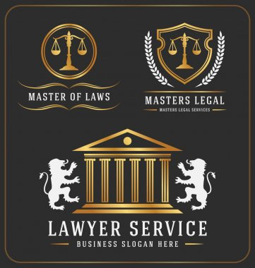 Set of lawyer service office logo template design