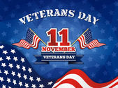 Veterans Day Badge and Background