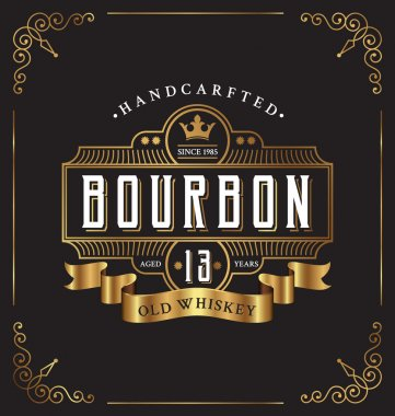 Vintage frame label design. Suitable for Whiskey
