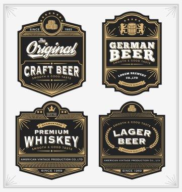 Vintage frame design for labels banner sticker and other design
