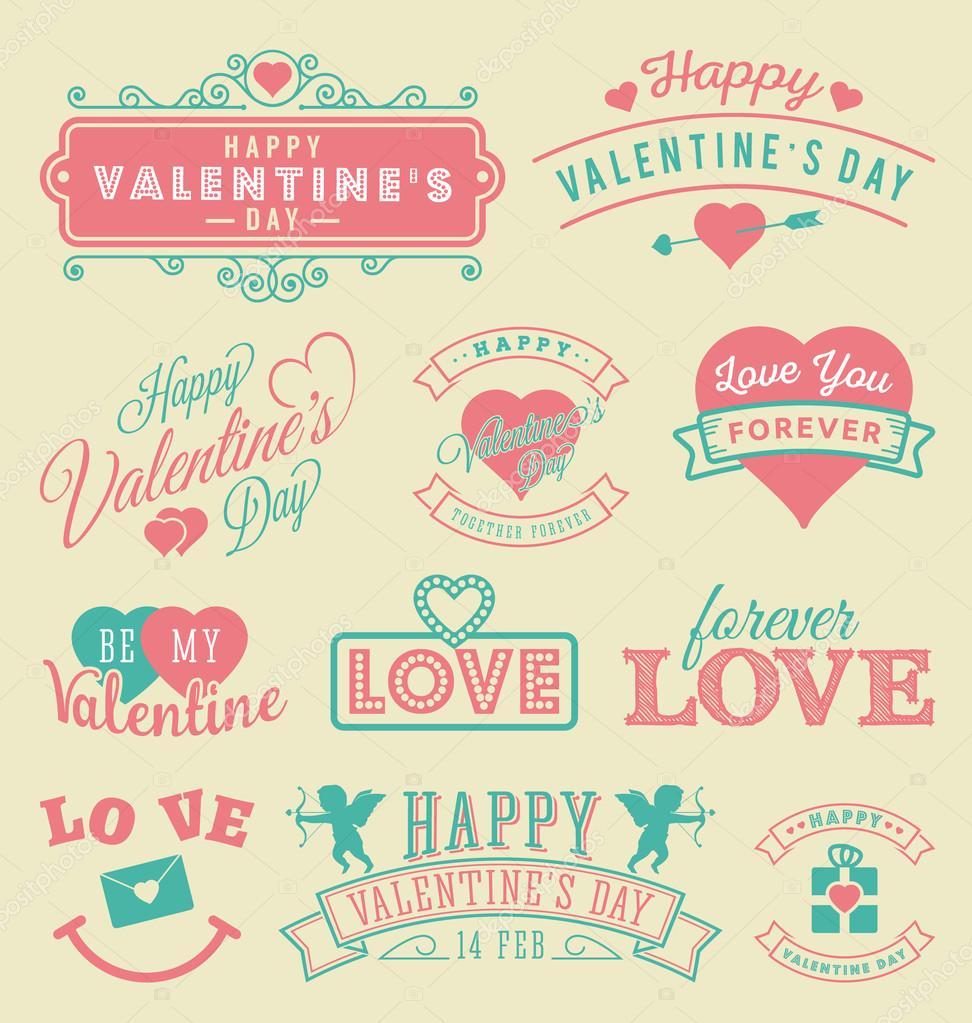Valentinstag-Aufkleber und Embleme — Stockvektor © raftel #95339630
