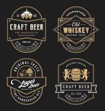 Vintage frame design for labels, banner, sticker