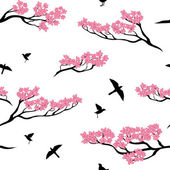 Photo Seamless pattern of sakura tree