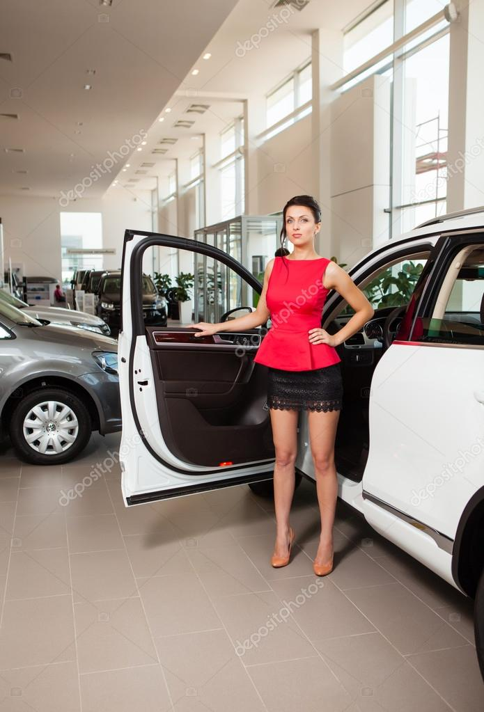 Simply matchless girl short skirt car speaking, opinion