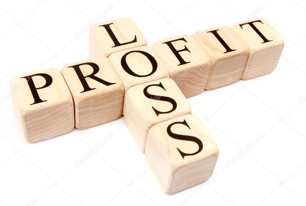 building blocks form loss profit words stock photo hidesy 76004781