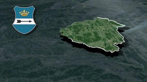 Magyarország Megyék Zala whit címer animációs térkép