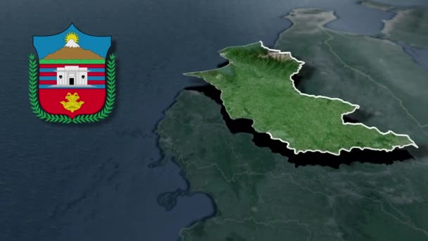 Departement von Kolumbien Magdalena whit Wappen Animation Karte
