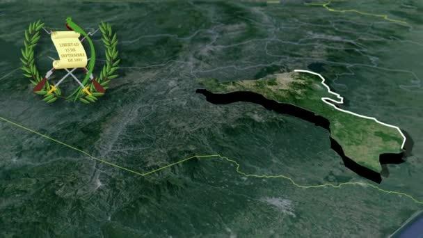 Departement von Guatemala Quetzaltenango whit Wappen Animation Karte