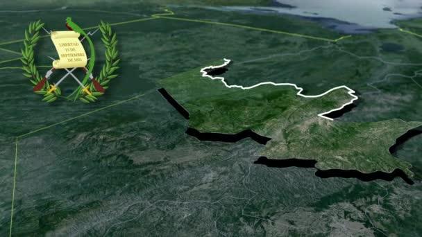 Departement von Guatemala Quiche whit Wappen Animation Karte