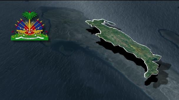 Departments of Haiti animation map