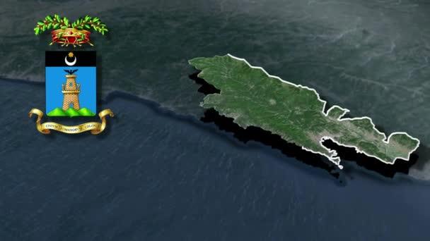 Navigationsleiste Provinzen Italiens mit Wappenanimation