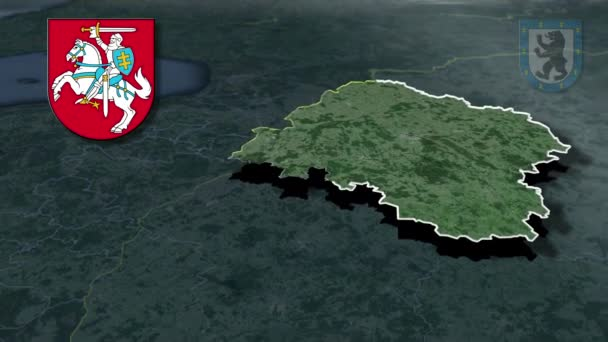 Litauische Landkreise mit Wappenanimation