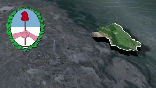 Verwaltungsgliederung Argentiniens Tucuman mit Wappenanimationskarte
