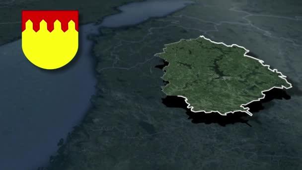 Regionen Finnlands Pirkanmaa mit Wappenanimationskarte