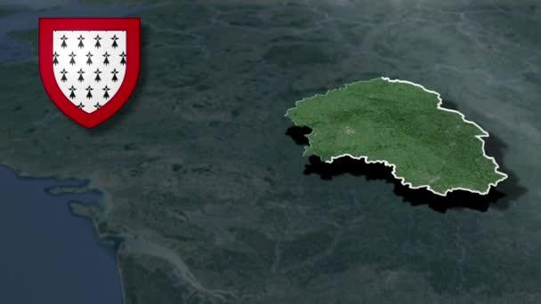 Regionen in Frankreich Limousin mit Wappenanimationskarte